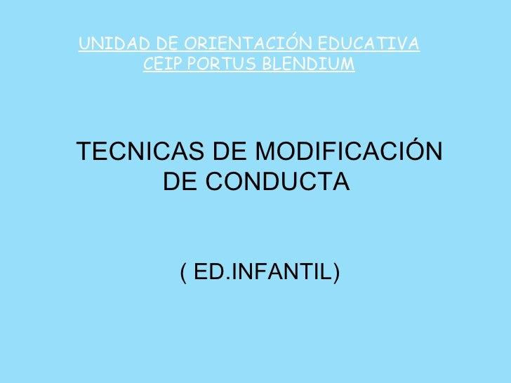 Técnicas de Modificación de Conducta (E.I.)