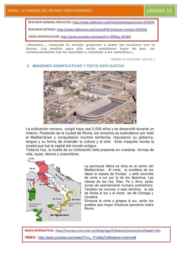 RESUMEN GENERAL REDUCIDO: http://www.slideshare.net/historiamataquito/roma-475678RESUMEN EXTENSO: http://www.slideshare.ne...