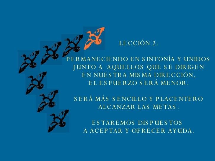 LECCIÓN 2: PERMANECIENDO EN SINTONÍA Y UNIDOS JUNTO A  AQUELLOS QUE SE DIRIGEN EN NUESTRA MISMA DIRECCIÓN, EL ESFUERZO SER...