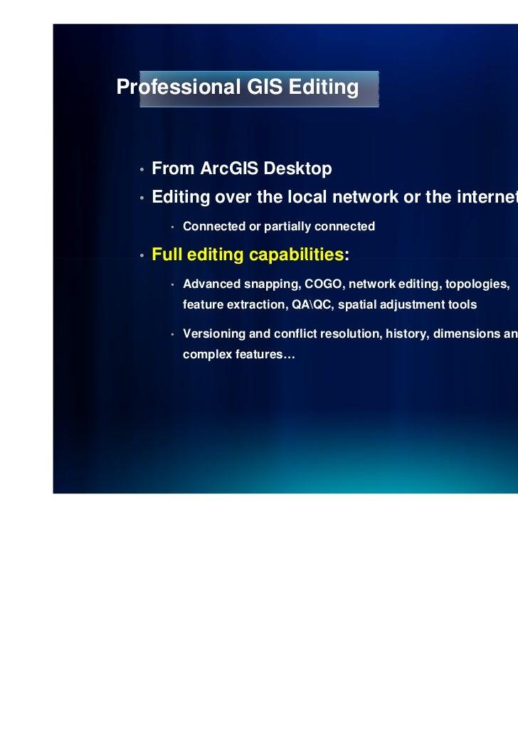 Web Editing in ArcGIS Server