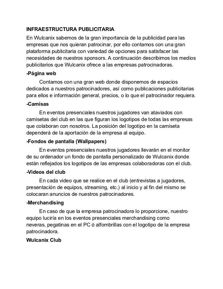 REQUISITOS DE PATROCINIOLos requisitos para patrocinar este proyecto y poder unirse a la gran familiaque compone Wulcanix ...