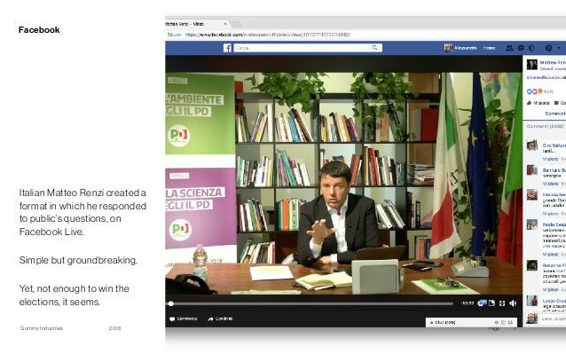 Gummy Industries Page2018 Facebook 17 Italian Matteo Renzi created a format in which he responded to public's questions, o...