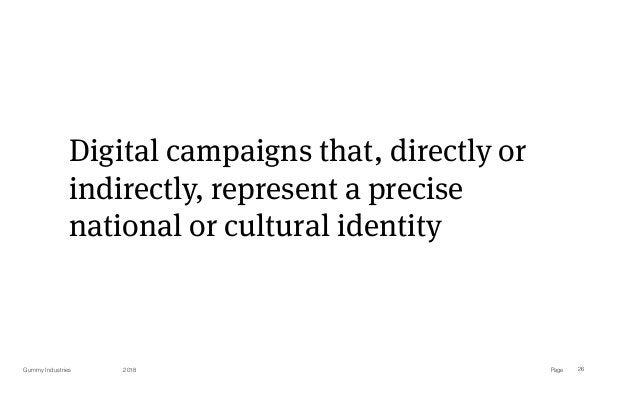 PageGummy Industries 26 Digital campaigns that, directly or indirectly, represent a precise national or cultural identity ...