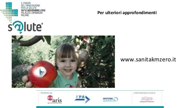 www.sanitakmzero.it Per ulteriori approfondimenti