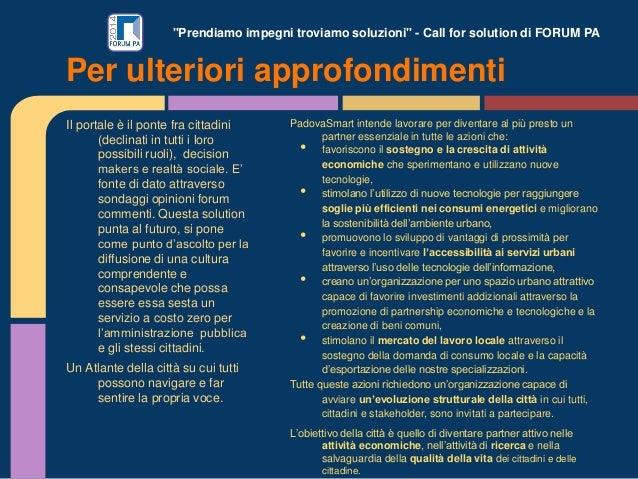 """""""Prendiamo impegni troviamo soluzioni"""" - Call for solution di FORUM PA Il portale è il ponte fra cittadini (declinati in t..."""