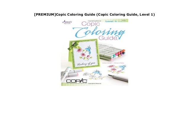 PREMIUM]Copic Coloring Guide (Copic Coloring Guide, Level 1)