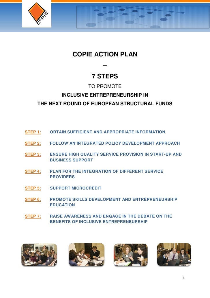 COPIE ACTION PLAN                                –                          7 STEPS                         TO PROMOTE    ...