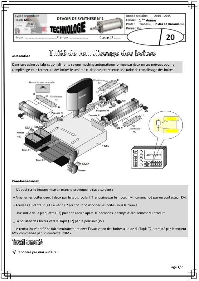 résentation Dans une usine de fabrication alimentaire une machine automatique formée par deux unités prévues pour le rempl...