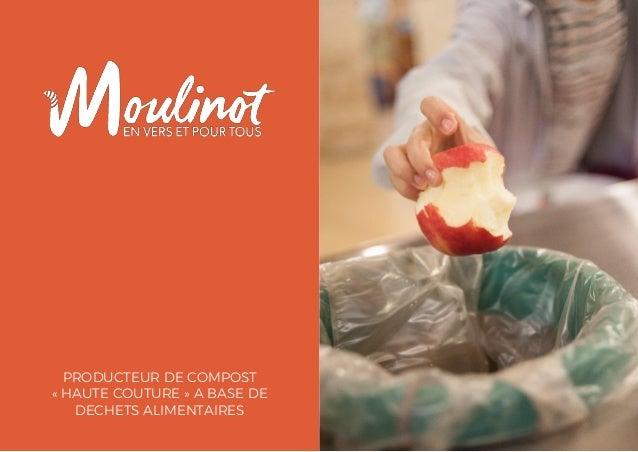 PRODUCTEUR DE COMPOST « HAUTE COUTURE » A BASE DE DECHETS ALIMENTAIRES