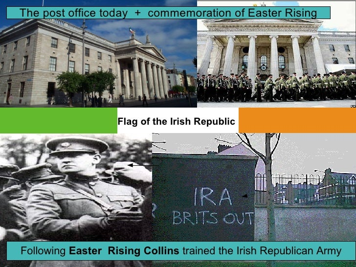 The post office today + commemoration of Easter Rising                        Flag of the Irish Republic     Following Eas...