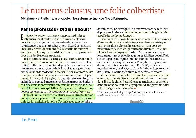 Why numerus clausus failed in france since 40 years for Numerus clausus