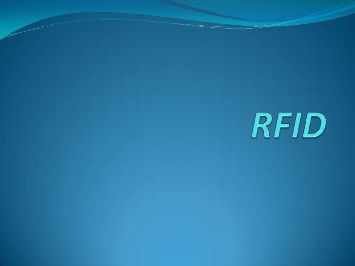 Presentation Rfid