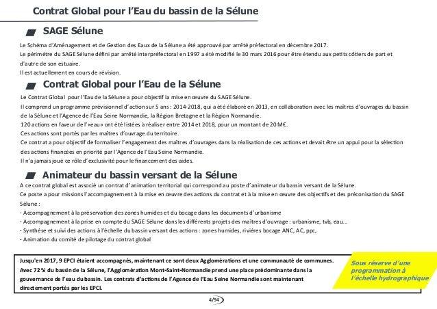 4/94 Contrat Global pour l'Eau du bassin de la Sélune SAGE Sélune Le Schéma d'Aménagement et de Gestion des Eaux de la Sél...