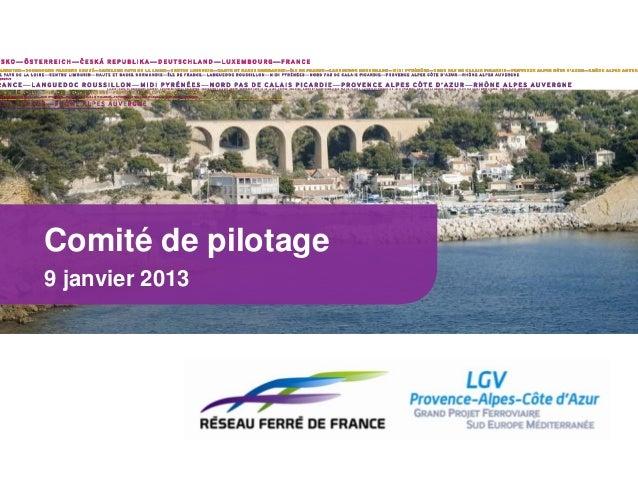 Comité de pilotage9 janvier 2013