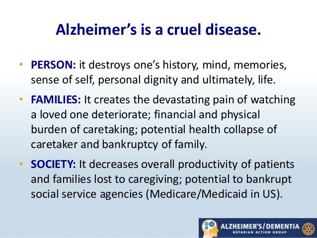 alzheimers effects on the family Changes in the brain associated with alzheimer's disease can be seen as early as childhood in people with a heightened genetic risk the 13 million people in your family tree alzheimer's effects on the brain found in young people.