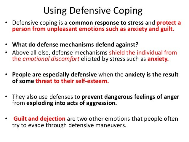 defensiveness cleaning and different defense mechanisms
