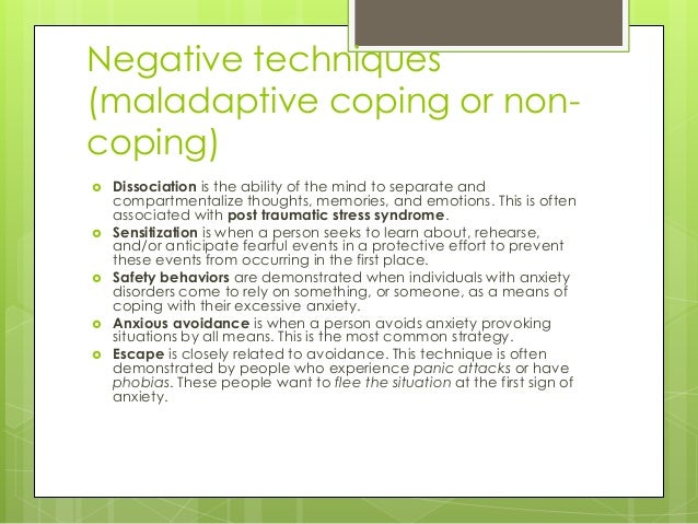 maladaptive behavior essay Abnormal psychology is the branch of psychology that studies unusual patterns of behavior, emotion and thought, which may or may not be understood as precipitating a mental disorder the science of abnormal psychology studies two types of behaviors: adaptive and maladaptive behaviors.