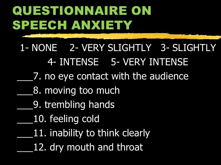 coping with speech anxiety Interested in speech anxiety for therapeutic or pedagogical practice  liefs  embedded in each thought, develop a coping statement for each.