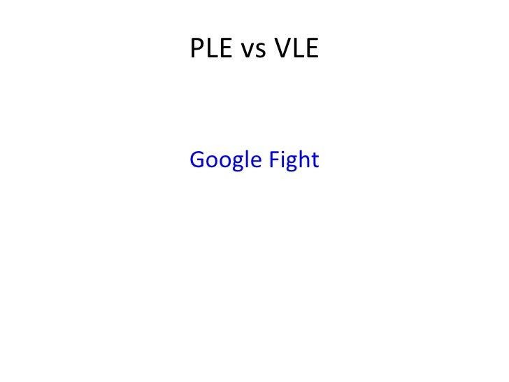 PLE vs VLE Google Fight