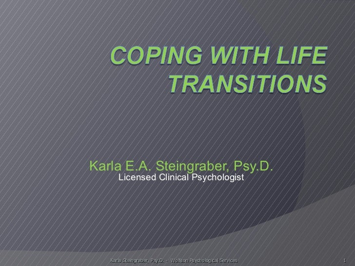 Karla E.A. Steingraber, Psy.D. Licensed Clinical Psychologist Karla Steingraber, Psy.D. -  Wolfson Psychological Services
