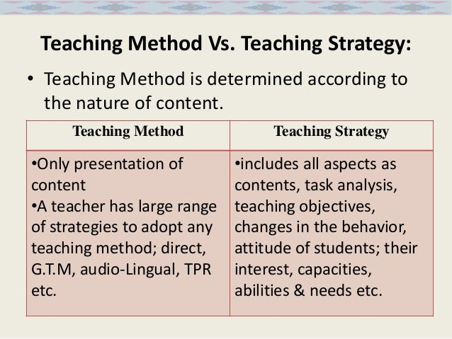 Copm study of teaching strategies by pu. & uoe teachers