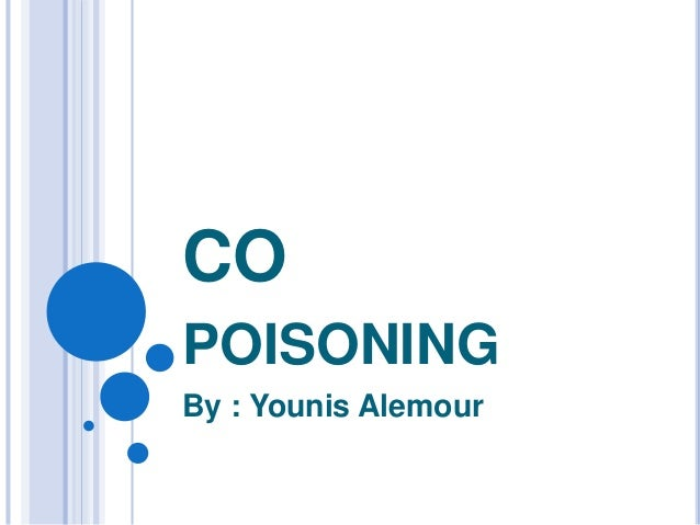 CO POISONING By : Younis Alemour