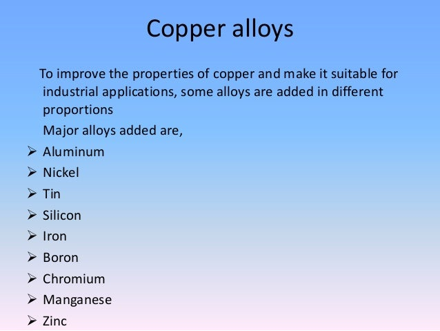 Copper Physical Properties And Uses