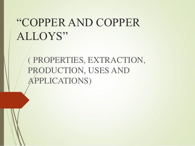 Copper its properties