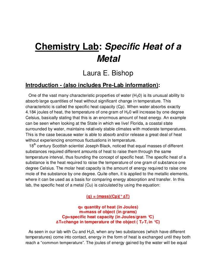Chemistry ib lab design