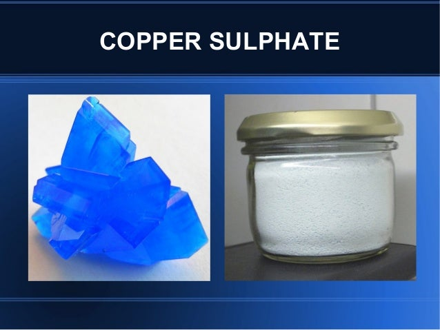 Copper sulphate poisoning