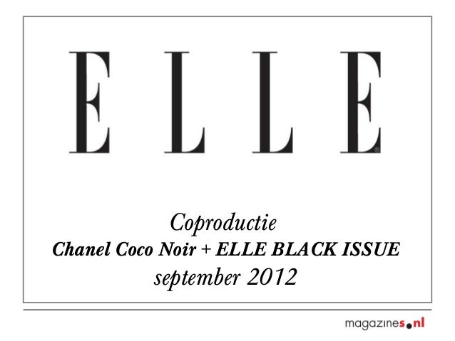 Coproductie Chanel Coco Noir + ELLE BLACK ISSUE september 2012