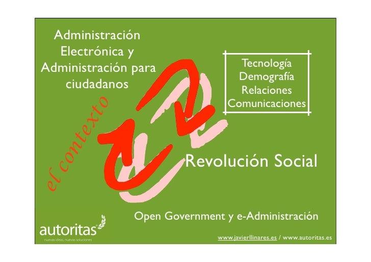 Administración    Electrónica y Administración para                Tecnología                                    Demografí...