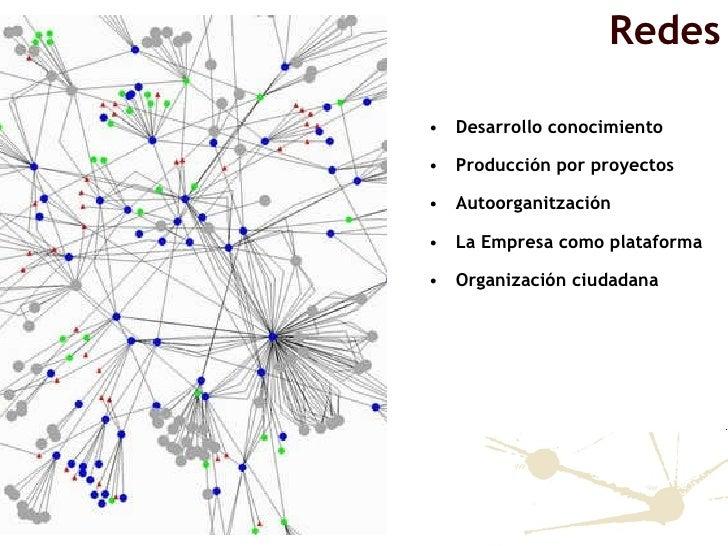 <ul><li>Desarrollo conocimiento </li></ul><ul><li>Producción por proyectos </li></ul><ul><li>Autoorganitzación </li></ul><...