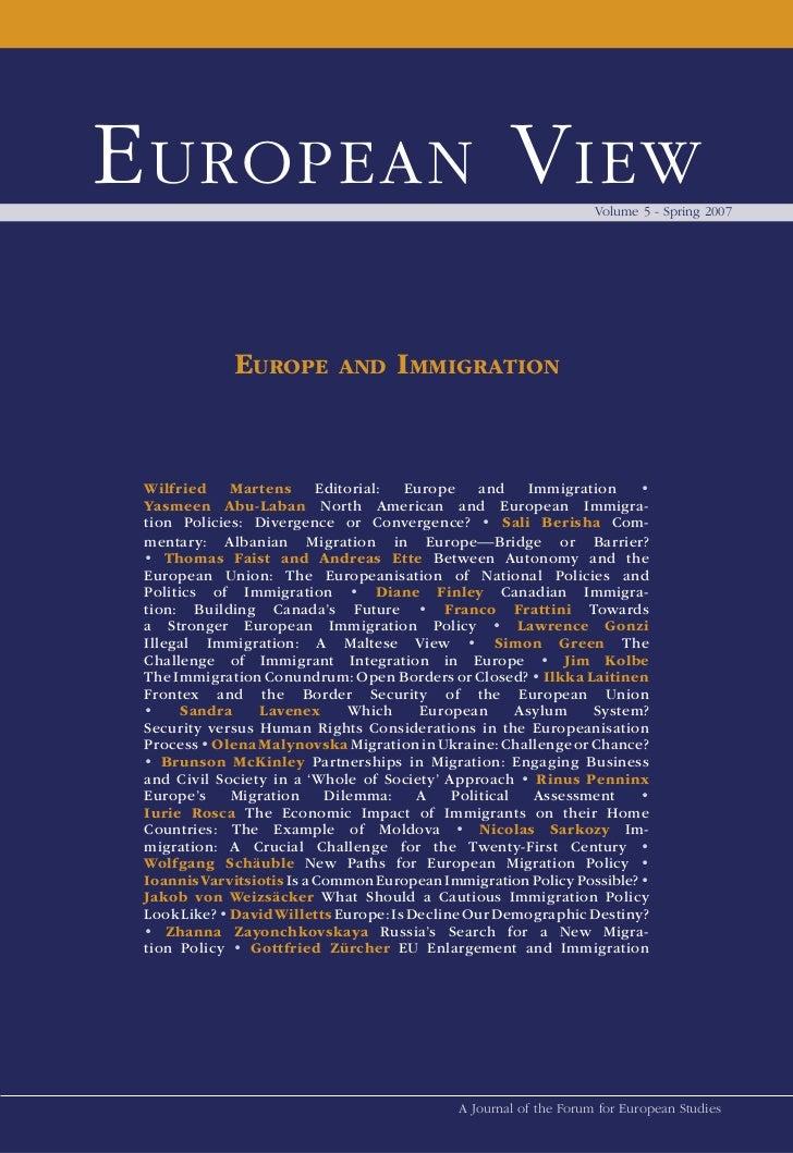 E uropEan V iEw                                                    Volume 5 - Spring 2007             EuropE         and  ...