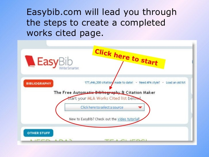 Citing Sources with easybib.com