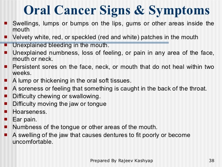 Oral Cancer ...