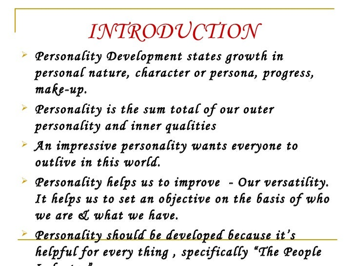 about personal development
