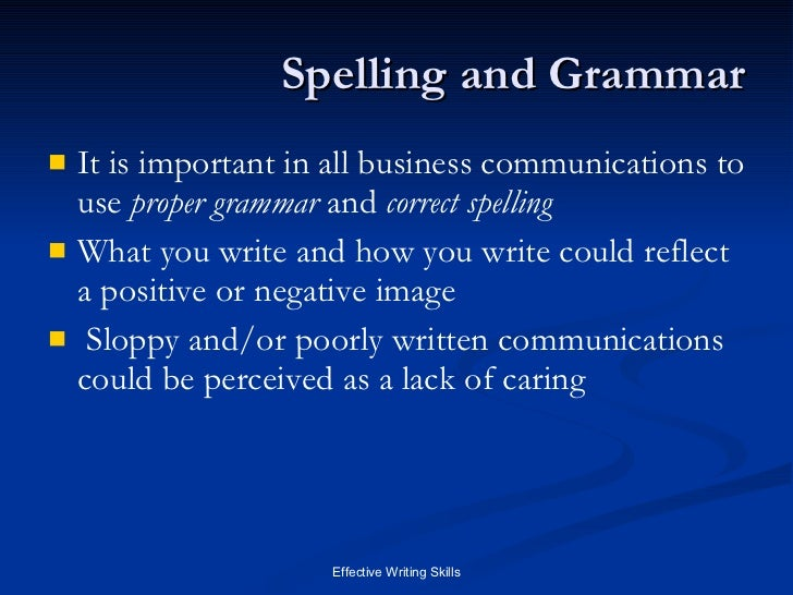 importance of grammar essay Your employer takes pride in having their employees make presentations about several work-related topics you have been asked to explain to your colleagues the.