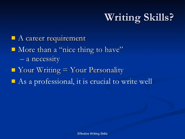 what are the types of writing
