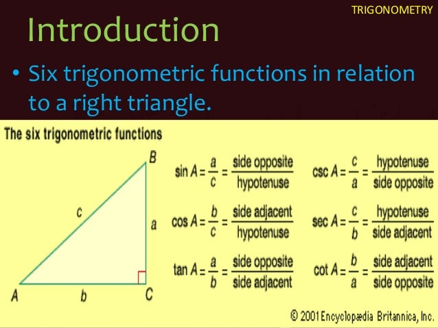 history trigonometry Trigonometry (from the greek trigonon = three angles and metron = measure ) is a branch of mathematics which deals with triangles, particularly triangles in a plane where one angle of the triangle is 90 degrees  early history of trigonometry table of trigonometry, 1728 cyclopaedia.