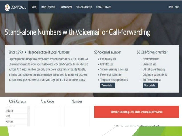 Copycall inexpensive virtual phone number with voicemail or call for…