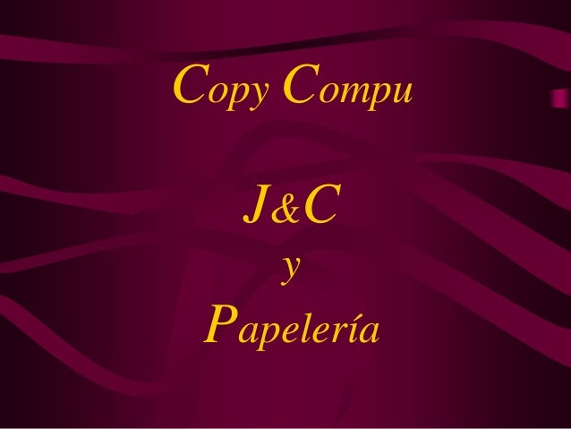 Copy Compu J&C y Papelería