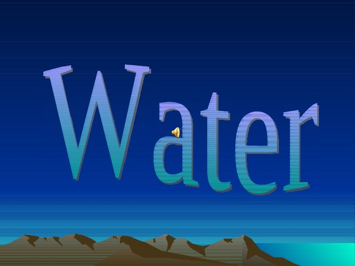 Don't waste water