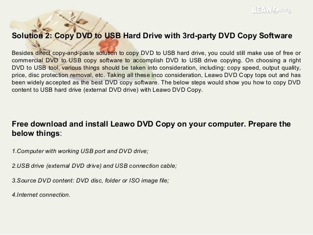 how to copy dvd to usb flash drive