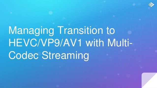 Managing Transition to HEVC/VP9/AV1 with Multi-Codec Streaming