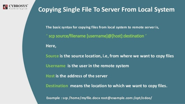 Copying Multiple Files Simultaneously Using SCP