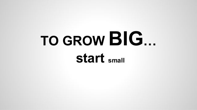 think big to grow big