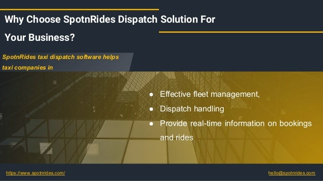 Readymade Taxi Dispatch Software