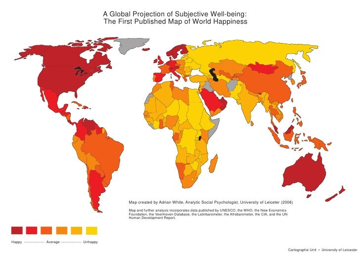 A Global Projection of Subjective Well-being:                                                            The First Publish...
