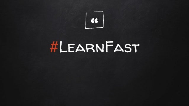 """"""" #LearnFast"""